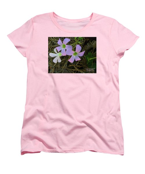 Women's T-Shirt (Standard Cut) featuring the photograph Pink Glow by Donna Brown