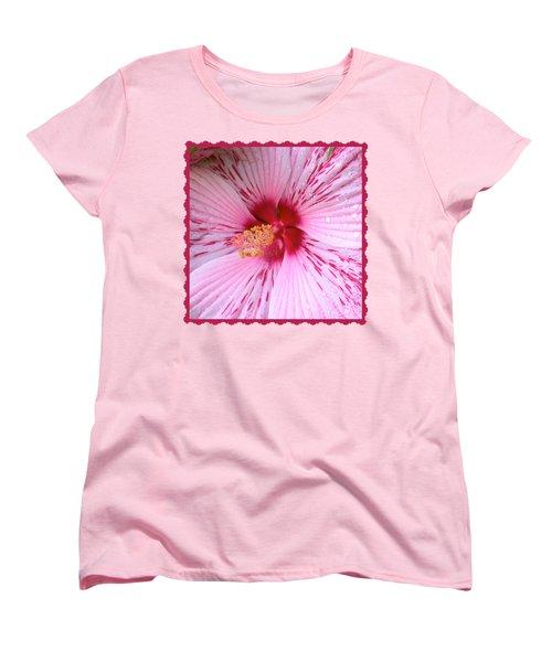 Pink Hibiscus Macro Women's T-Shirt (Standard Cut)
