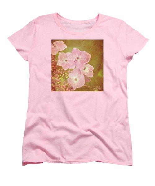 Women's T-Shirt (Standard Cut) featuring the photograph Pink Hydrangeas by Lyn Randle
