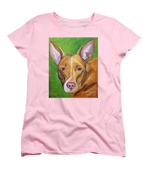 Women's T-Shirt (Standard Cut) featuring the painting Pink Nose by Ania M Milo