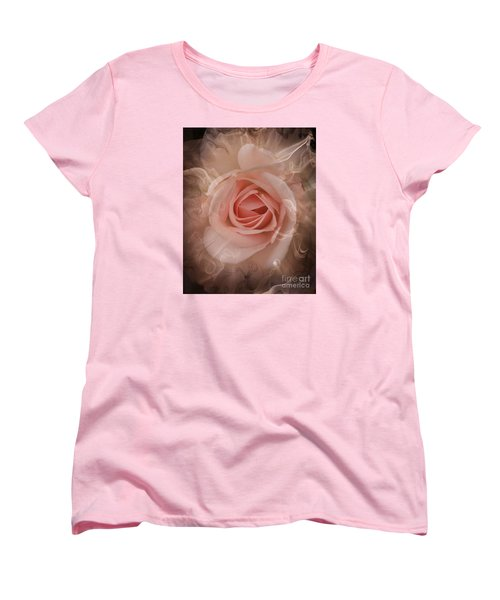 Pink Smokey Women's T-Shirt (Standard Cut) by Clare Bevan
