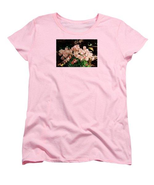 Pink Tulips Women's T-Shirt (Standard Cut)