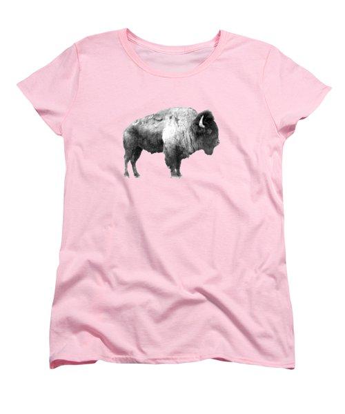 Women's T-Shirt (Standard Cut) featuring the photograph Plains Bison by Jim Sauchyn
