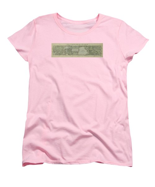Women's T-Shirt (Standard Cut) featuring the photograph Plan Of Central Park City Of New York 1860 by Duncan Pearson
