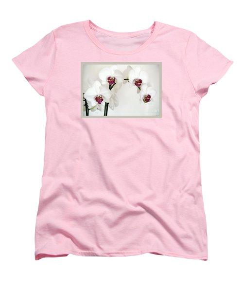Platnum Beauty Orchids Women's T-Shirt (Standard Cut) by Marsha Heiken