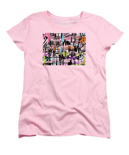 Playful Scribbles Women's T-Shirt (Standard Cut) by Go Van Kampen
