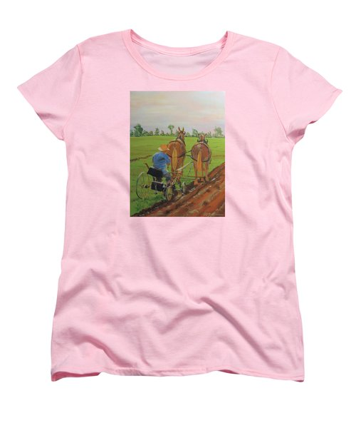 Plowing Match Women's T-Shirt (Standard Cut) by David Gilmore