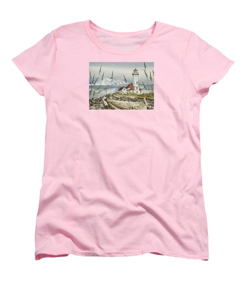 Point Wilson Lighthouse Women's T-Shirt (Standard Cut) by James Williamson