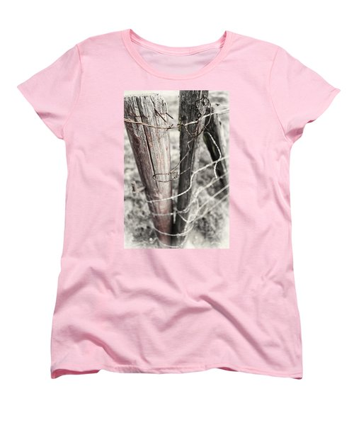 Women's T-Shirt (Standard Cut) featuring the photograph Points And Posts by Caitlyn  Grasso