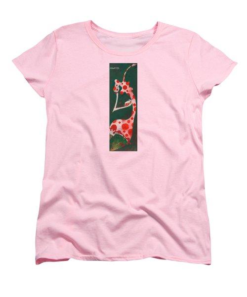 Women's T-Shirt (Standard Cut) featuring the painting Polka Dots by Maya Manolova