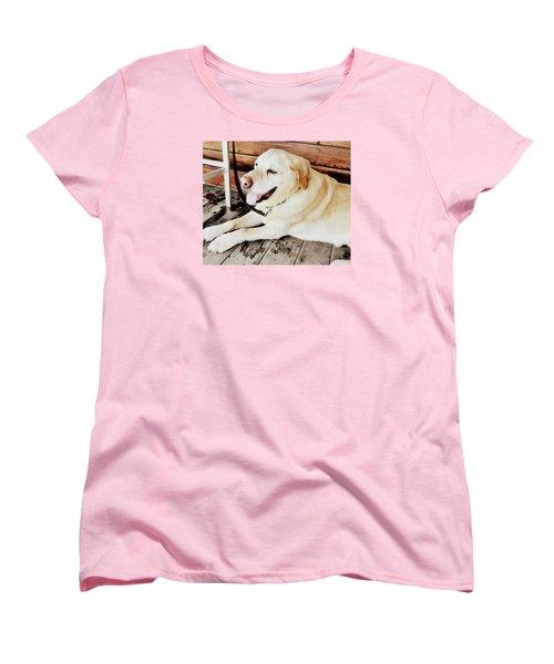 Porch Pooch Women's T-Shirt (Standard Cut) by JAMART Photography