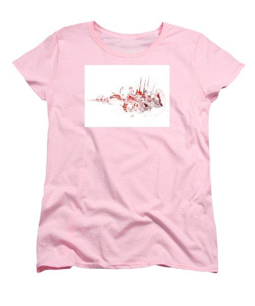 Port - Mixed Media Abstract Painting  Women's T-Shirt (Standard Cut) by Modern Art Prints
