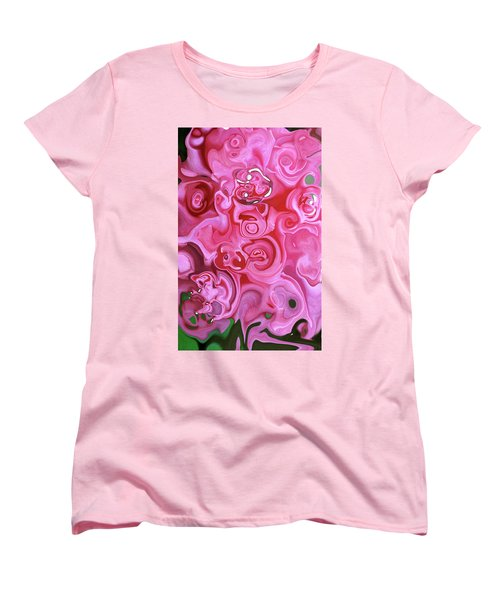 Pretty In Pink Women's T-Shirt (Standard Cut) by JoAnn Lense