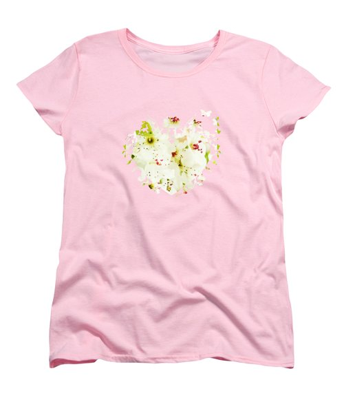 Pretty Pear Petals Women's T-Shirt (Standard Cut) by Anita Faye