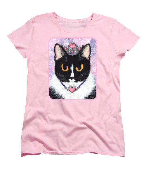 Princess Fiona -tuxedo Cat Women's T-Shirt (Standard Cut) by Carrie Hawks