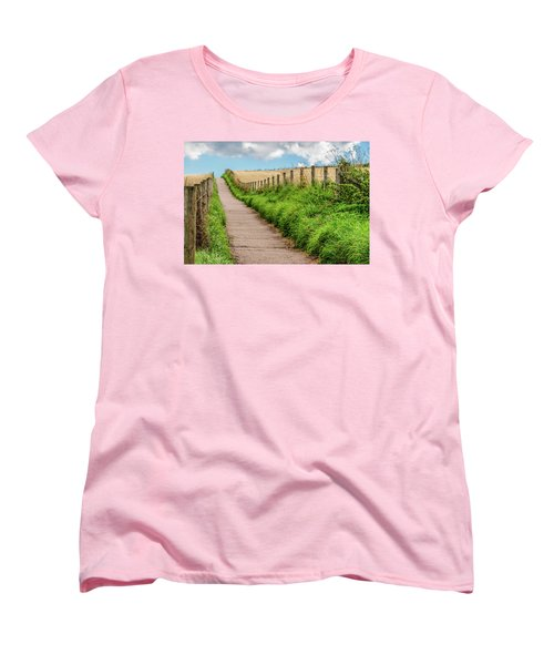 Women's T-Shirt (Standard Cut) featuring the photograph  Promenade In Stonehaven by Sergey Simanovsky