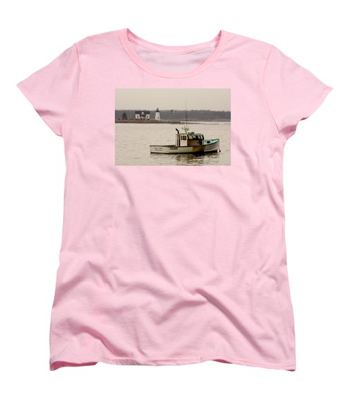 Prospect Harbor Lighthouse Women's T-Shirt (Standard Cut) by Brent L Ander