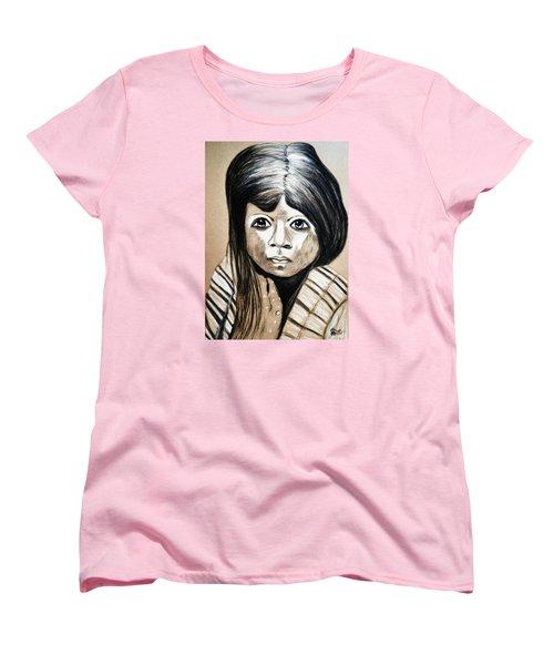 Pueblo Girl Women's T-Shirt (Standard Cut) by Ayasha Loya