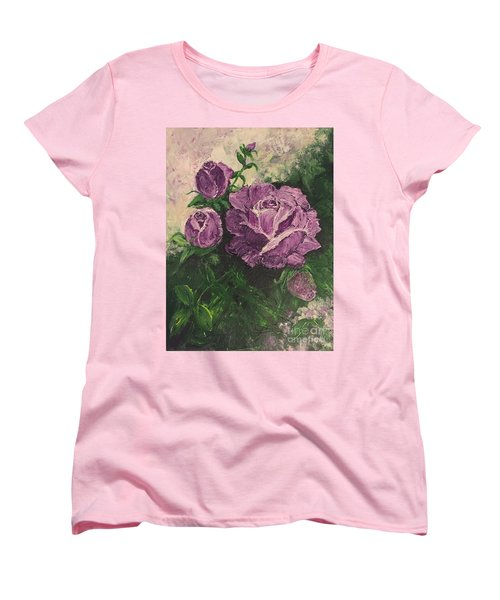 Purple Passion Women's T-Shirt (Standard Cut) by Lucia Grilletto