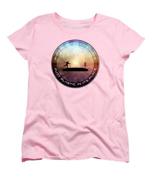 Putt Plastic In Its Place Women's T-Shirt (Standard Cut) by Phil Perkins