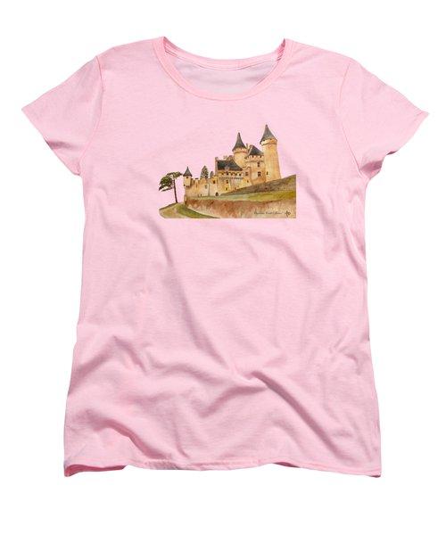 Puymartin Castle Women's T-Shirt (Standard Cut) by Angeles M Pomata