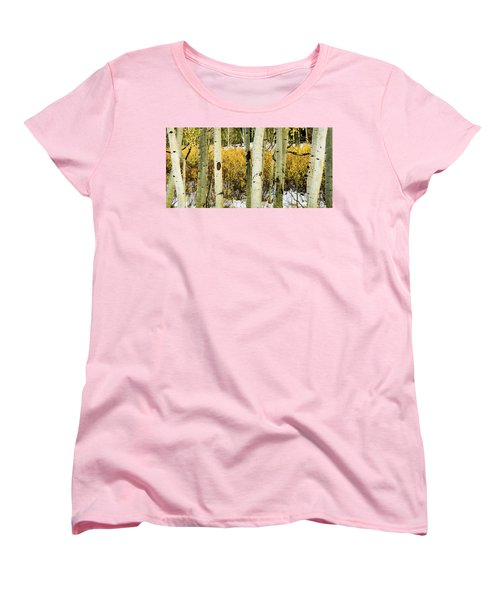 Quakies And Willows In Autumn Women's T-Shirt (Standard Cut)