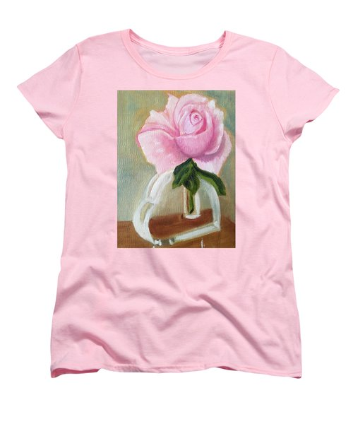 Women's T-Shirt (Standard Cut) featuring the painting Queen Elizabeth by Sharon Schultz