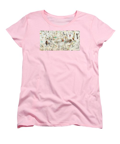 Women's T-Shirt (Standard Cut) featuring the painting Quest by Carmen Guedez