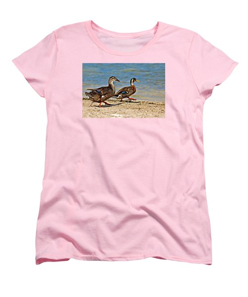 Women's T-Shirt (Standard Cut) featuring the photograph Race You To The Water by Carolyn Marshall