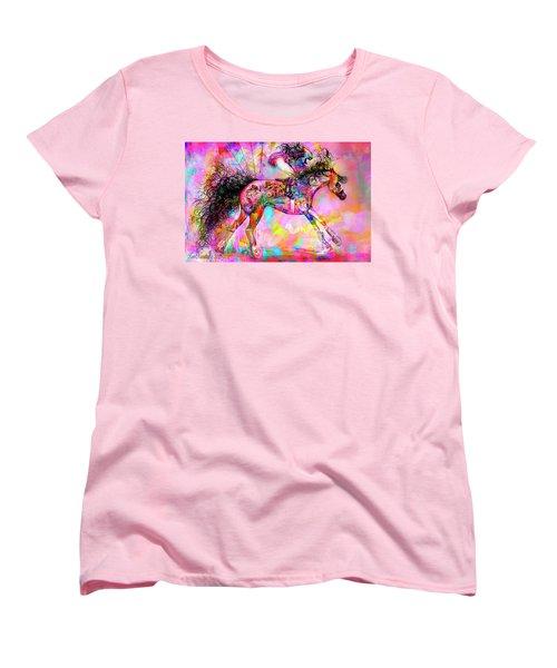 Racing For Time Women's T-Shirt (Standard Cut) by Kari Nanstad