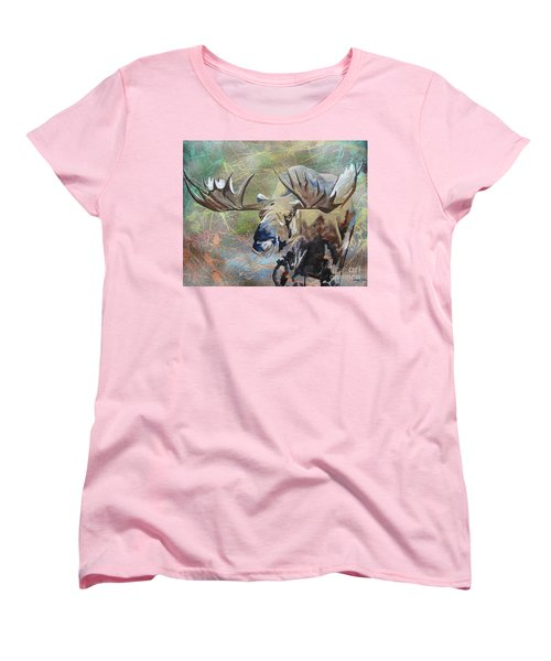 Women's T-Shirt (Standard Cut) featuring the painting Rack And Roll by Stuart Engel