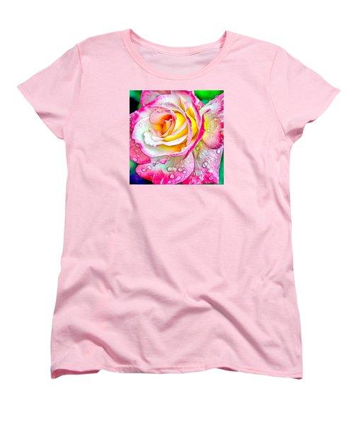 Radiant Rose Of Peace Women's T-Shirt (Standard Cut) by Charmaine Zoe