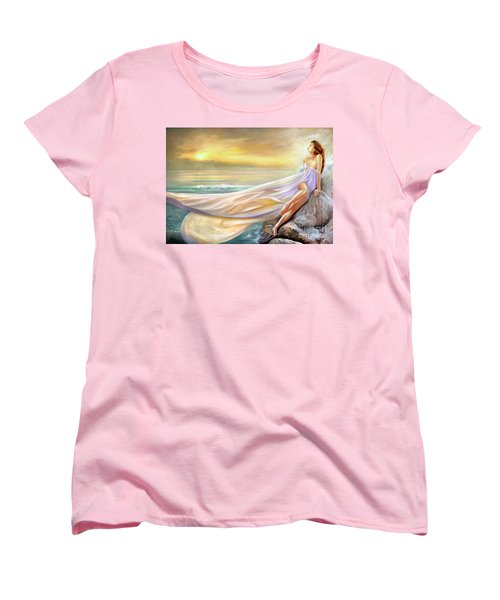 Rapture In Midst Of The Sea Women's T-Shirt (Standard Cut) by Michael Rock