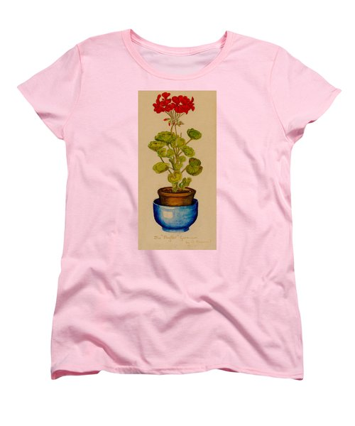 Ray-bet Geranium Women's T-Shirt (Standard Cut) by Betty Hammant