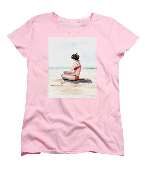 Red Bikini Women's T-Shirt (Standard Cut) by Sam Sidders