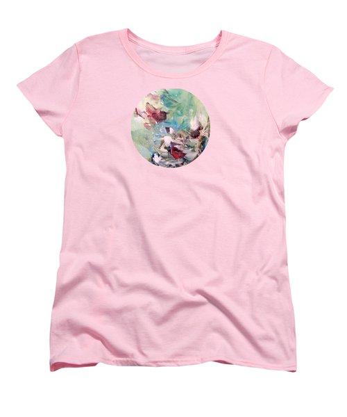 Red Birds In Winter Women's T-Shirt (Standard Fit)