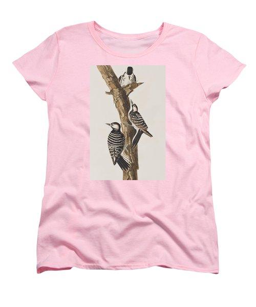 Red-cockaded Woodpecker Women's T-Shirt (Standard Cut) by John James Audubon