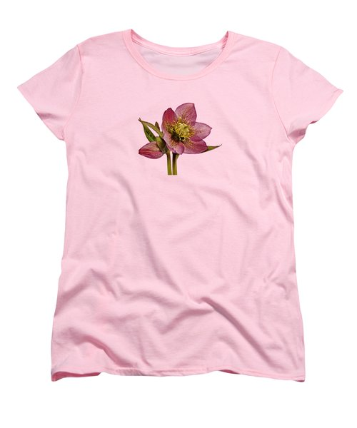 Women's T-Shirt (Standard Cut) featuring the photograph Red Hellebore Transparent Background by Paul Gulliver