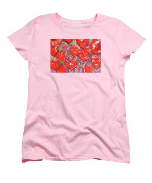 Red Poppies Women's T-Shirt (Standard Cut) by Gallery Messina