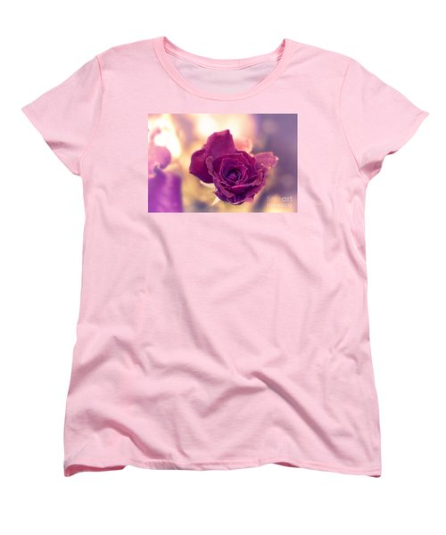 Red Rose Women's T-Shirt (Standard Cut) by Charuhas Images