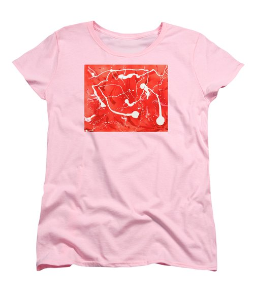 Red Spill Women's T-Shirt (Standard Cut) by Thomas Blood