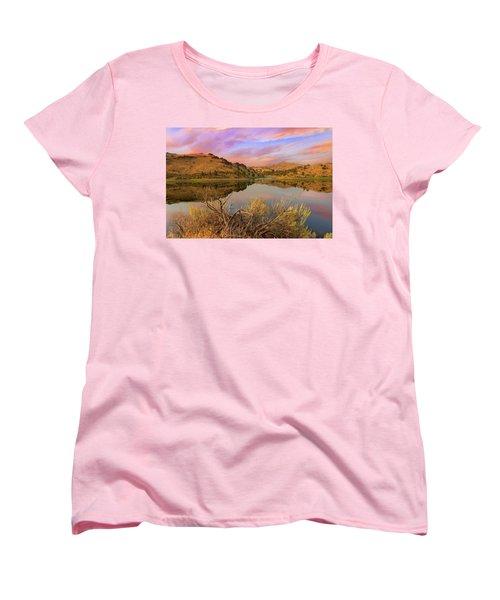 Reflection Of Scenic High Desert Landscape In Central Oregon Women's T-Shirt (Standard Fit)