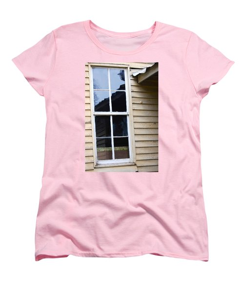 Women's T-Shirt (Standard Cut) featuring the photograph Reflections Of The Past by Debbie Karnes