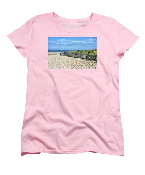 Women's T-Shirt (Standard Cut) featuring the photograph Rehoboth Delaware by Brendan Reals