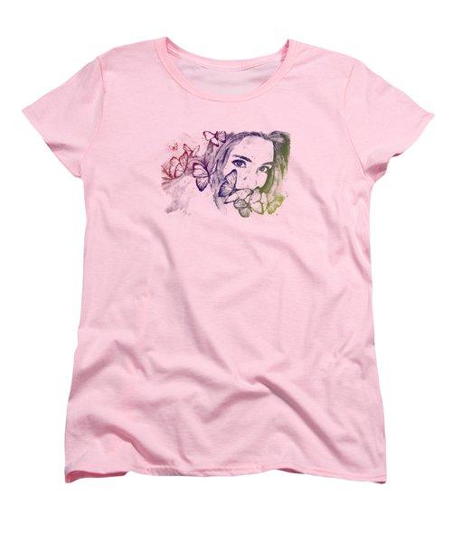 Remain Sedate - Rainbow Women's T-Shirt (Standard Cut) by Marco Paludet
