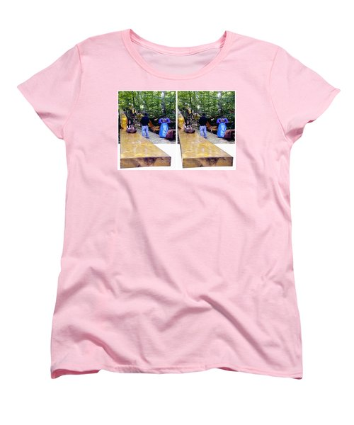 Women's T-Shirt (Standard Cut) featuring the photograph Renaissance Slide - Gently Cross Your Eyes And Focus On The Middle Image by Brian Wallace