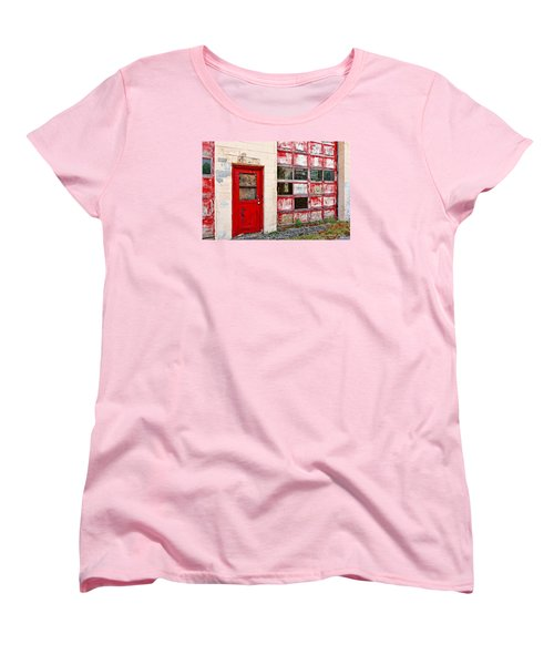 Women's T-Shirt (Standard Cut) featuring the photograph Retired Garage by Christopher Holmes