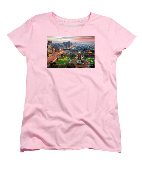Women's T-Shirt (Standard Cut) featuring the photograph Retiro Buenos Aires by Bernardo Galmarini
