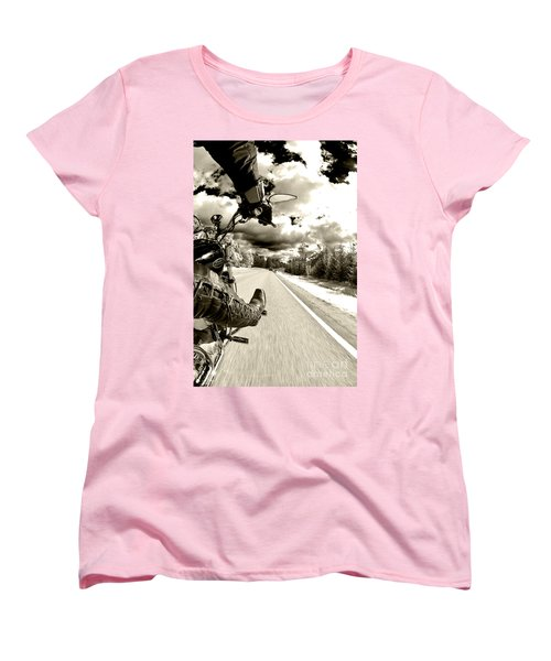 Ride To Live Women's T-Shirt (Standard Cut) by Micah May