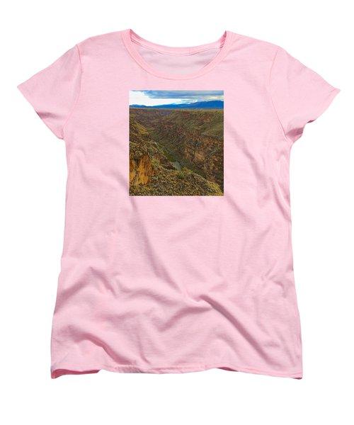 Women's T-Shirt (Standard Cut) featuring the photograph Rio Grande Gorge Just After Dawn by Brenda Pressnall